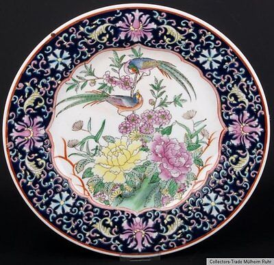 China 20. Jh. Zierteller -A Chinese Famille Rose Porcelain Dish Cinese Chinoise