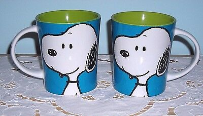 Set Of 2 Peanuts Ceramic Snoopy Coffee Mugs Cups ~ New & Awesome