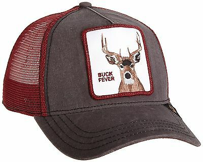 GOORIN BROS. ANIMAL Farm Trucker Snapback Hat Cap Dark Grey Maroon ... be0493be04c