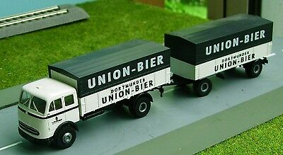 MERCEDES TRUCK and TRAILER - UNBOXED in HO SCALE by BREKINA