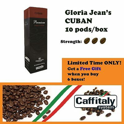 60 x Gloria Jean's Coffee Pods Cuban + FREE Capsules Holder *Caffitaly Capsules