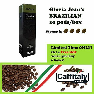 60 x Gloria Jean's Coffee Pods Brazilian + FREE  Holder *Caffitaly Capsules