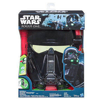 New Hasbro Star Wars Rogue One Imperial Death Trooper Voice Changer Mask B7094