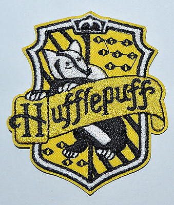 100x  Harry House HUFFLEPUFF embroidered Potter Iron on Patch Crest Badge