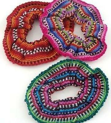New Elastic Hair Scrunchies (Set Of Three) By Mayan Artisans Fair Trade
