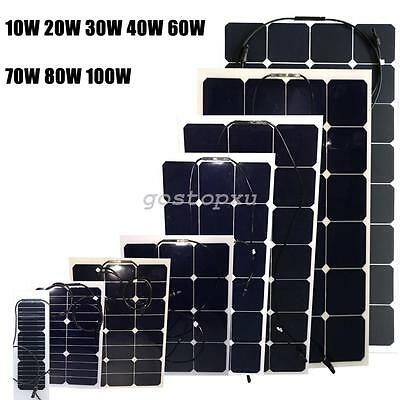 10W -100W Flexible Solar Panels Power USB Charge Battery For RV Boat Cabin Yacht