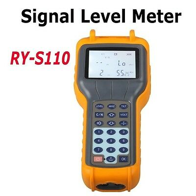 RY S110 CATV Cable TV Handle Digital Signal Level Meter DB Tester New