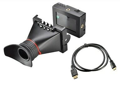 Feelworld EVF 3.5: LCD ViewFinder Electronic HDMI Video Camera View Finder 5D2