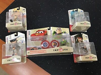 Disney Infinity - Crystal Clear Figures X 6 !!! Never Taken From Packet