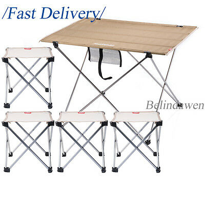 Lightweight Camping Table Chairs Kit Set for Family Using Hiking Picnic Fishing