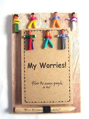 Worry Doll Notebook With Pencil Made In Guatemala Anxiety Worries