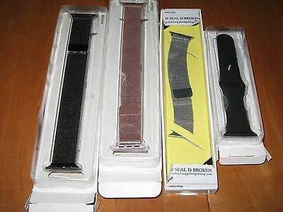 LOT of 4 NEW FOR APPLE WATCH BANDS 3 MAGNETIC 1 silicone 38mm