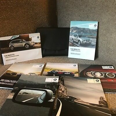 2013 BMW X3 OEM Owners Manual set with warranty guides and case