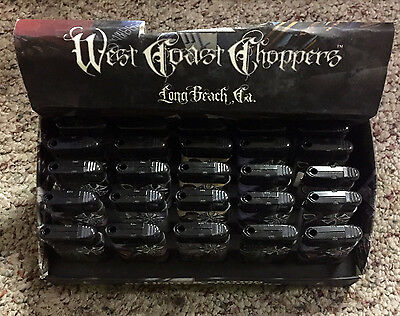 West Coast Choppers Motorcycle Biker LIGHTERS- LOT OF 25 - REFILLABLE