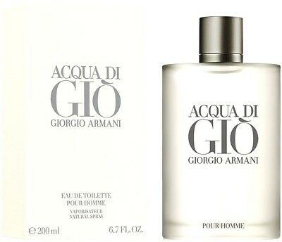 Aqua Acqua Di Gio Armani Cologne Perfume For Men 6.7 3.4 oz Edt Spray NEW IN BOX