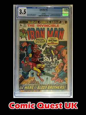 Iron Man #55 ⭐️ CGC 3.5 ⭐️ 1st First Thanos & Drax ⭐️ Marvel Comics