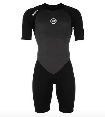Hot Tuna Men's Neoprene Suit Shorty Black Grey all sizes new with label