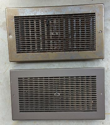 Mid-Century Pull Chain Heat Registers - Lot of 2 - Vent - Vintage - Grate - Wall