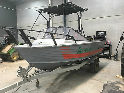 STACER 60hp four stroke boat with trailer.
