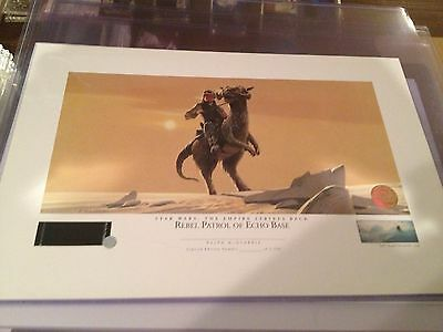 Star Wars - Ralph McQuarrie Lithograph - Rebel Patrol of Echo Base - unnumbered