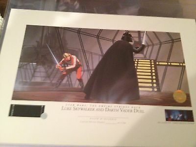 Ralph McQuarrie Lithograph - Luke Skywalker and Darth Vader Duel - unnumbered