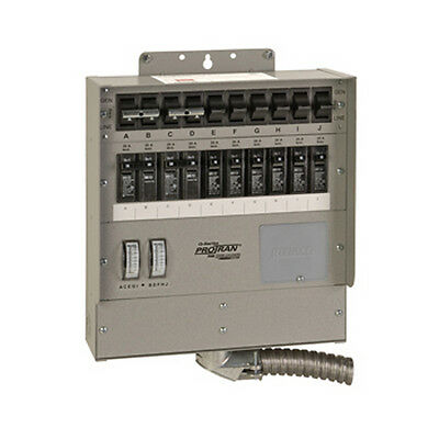 Reliance Controls Transfer Switch 50A 10 Circuit Q-Series Q510C