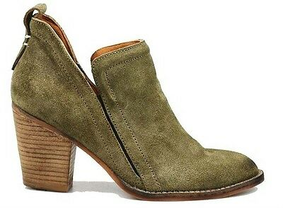 New Women's Suede Bootie-Wooden Heel-Jeffrey Campbell-Size 9.5,10