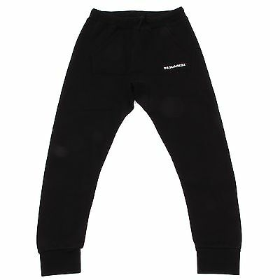 0136R pantaloni felpa unisex nero DSQUARED2  bimbo bimba sweat pants kids