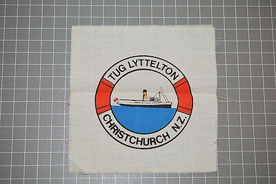 Very Old Lyttleton New Zealand Tug Silk Screened Patch (B11)