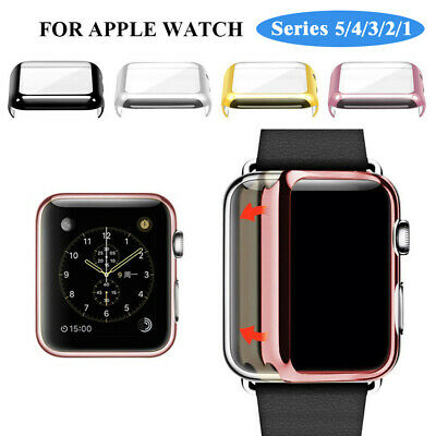 Apple Watch Series 4/3/2/1 38/42/44mm Full Cover Snap-on Case & Screen Protector