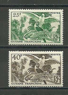 """French GUIANA 1947. """" ARAS Parrot """" 2 new stamps *.      (3557)"""