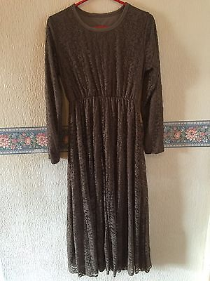 Ladies Beige/brown Abaya/Jilbab One Size