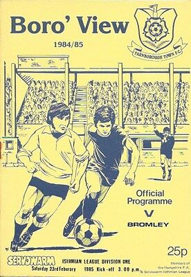 Farnborough Town V Bromley   84/85.