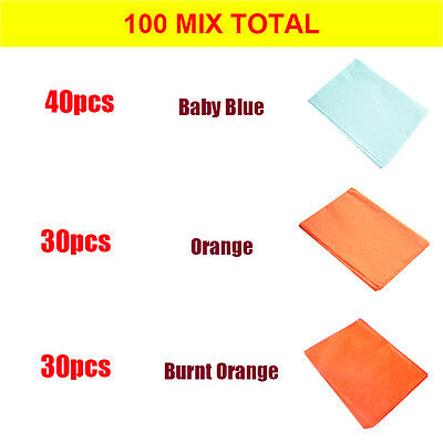 Mixed 100 Sheets 10 Colours 35x45cm Tissue Paper ACID FREE Party Gift Wrapping