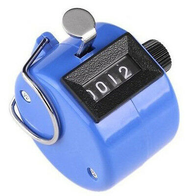 Plastic / Metal Hand Tally Counter With Zero Clearing Switch 4-Digit Display