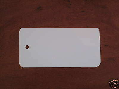 White Plastic UnStrung Tag Labels Luggage (Pack of 100)
