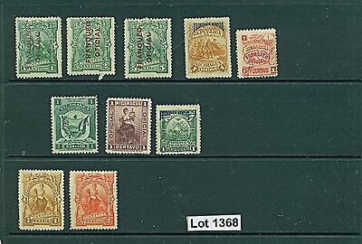 Lot 1368..Nicaragua..selection of 10 mint stamps pre 1940