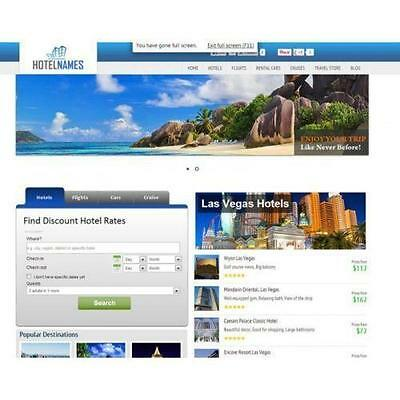 Travel Search Engine Turnkey Website- Huge Income 100% Automated ! Free Hosting