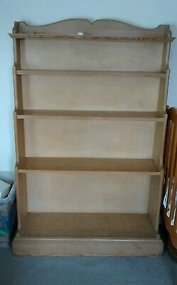 stepped bookcase, vintage bookshelves, solid wood pine