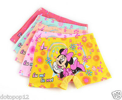 10 Pairs Minnie Mouse Kids Girls' Briefs Panties Underpants Underwear C645