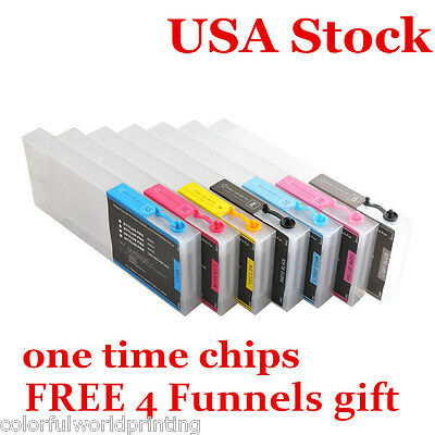 USA!! Epson Refilling Ink Cartridge for Stylus Pro 7600 / 9600+ 4 funnels +Chips