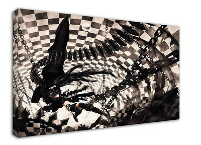 WK-C014 (527) Black Rock Shooter Canvas Wood Framed 36x24inch Poster