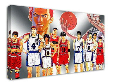WK-C022 (509) SLAM DUNK Canvas Stretched Wood Framed 36x24inch Poster