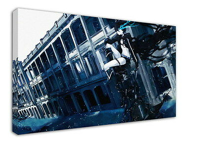 WK-C014 (509) Black Rock Shooter Canvas Wood Framed 36x24inch Poster
