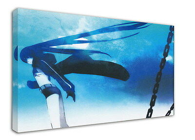 WK-C014 (506) Black Rock Shooter Canvas Wood Framed 36x24inch Poster