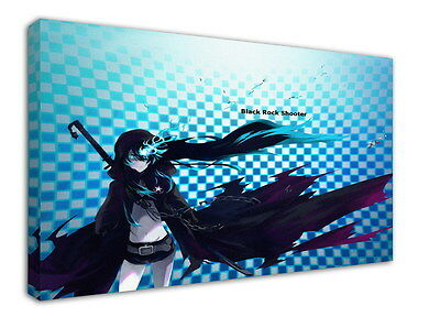 WK-C014 (516) Black Rock Shooter Canvas Wood Framed 36x24inch Poster