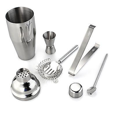 5x Stainless Steel Cocktail Shaker Bartender Tools Kit Mixer Drink Bar Night