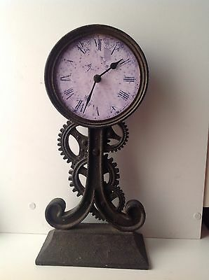 Vintage Hand-crafted Ornate Metallic Quartz Table/Mantle Clock