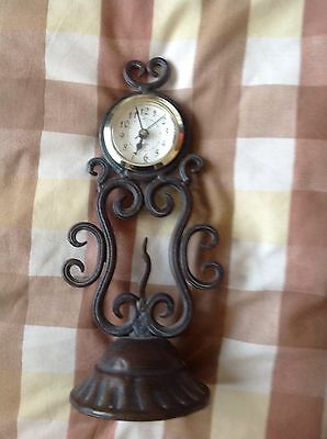 Vintage Hand-crafted Ornate ?Brass Quartz Table/Mantle Clock