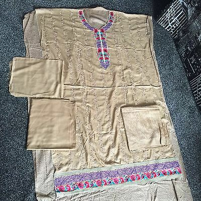 Designer Asian Pakistani Linen Causal Unstitched Clothes Winter Summer Wear